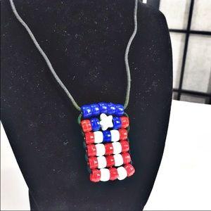 Puerto Rico Boricua New Bead Necklace